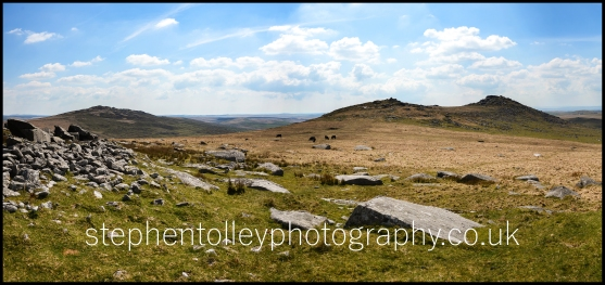 Roughtor and Brown Willy panorama