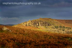 The Cheesewring Quarry (Stowes hill) in the early morning sunlight