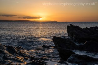 Hannafore point at sunrise looking towards Rame head