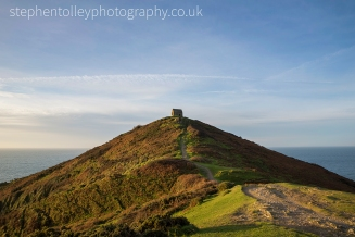 Rame head chapel on the end of the peninsula