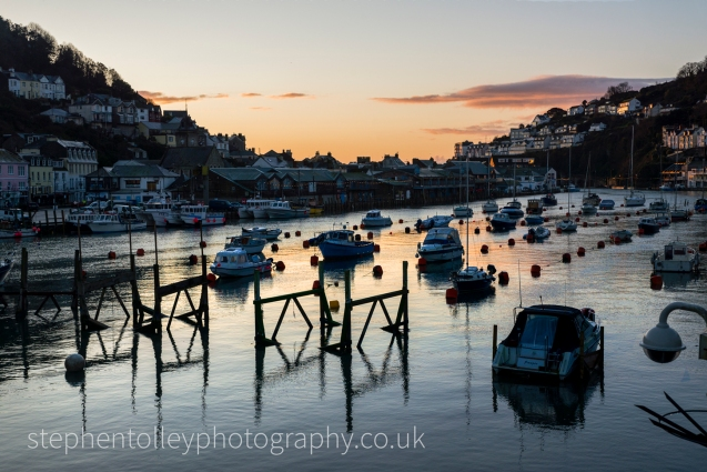 Looe river at sunrise
