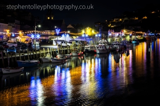 Festive lights at Looe