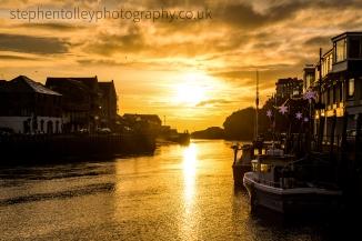 Sunrise in Looe Harbour