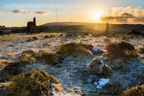 Minions at sunrise looking to Caradon Hill