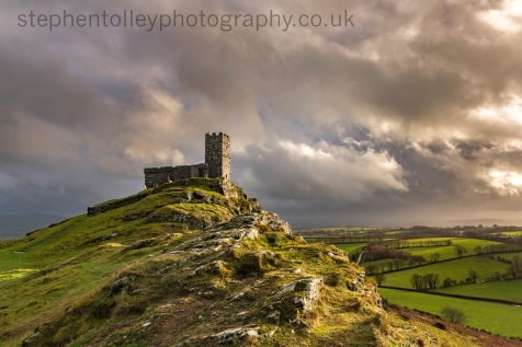 Brentor church on stormy Autumn afternoon