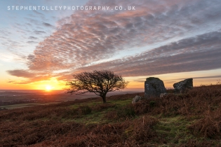 Sunrise at Caradon hill