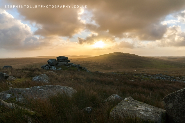 Stormy sunrise at Showery Tor