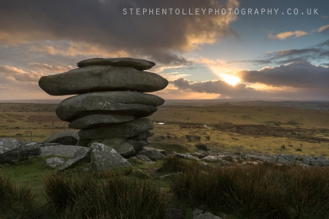 The Cheesewring at sunset