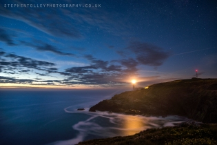 Starry sky at Trevose Head
