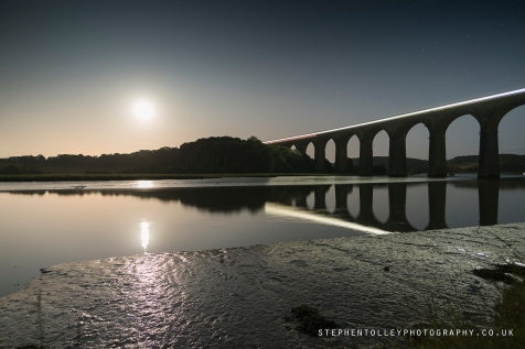 Full Moon at St Germans viaduct