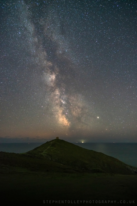 Milky way over Rame Head
